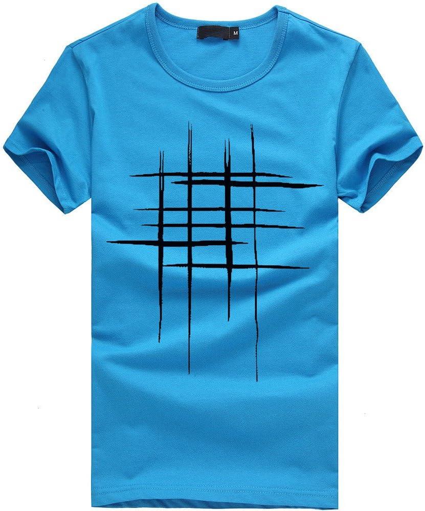 Polos Manga Corta Hombre Casual SHOBDW 2019 Camisetas Hombre Manga Corta Botón Tallas Grandes Impresión de Letras Blusa Tops Verano S-3XL(Azul, M): Amazon.es: Ropa y accesorios