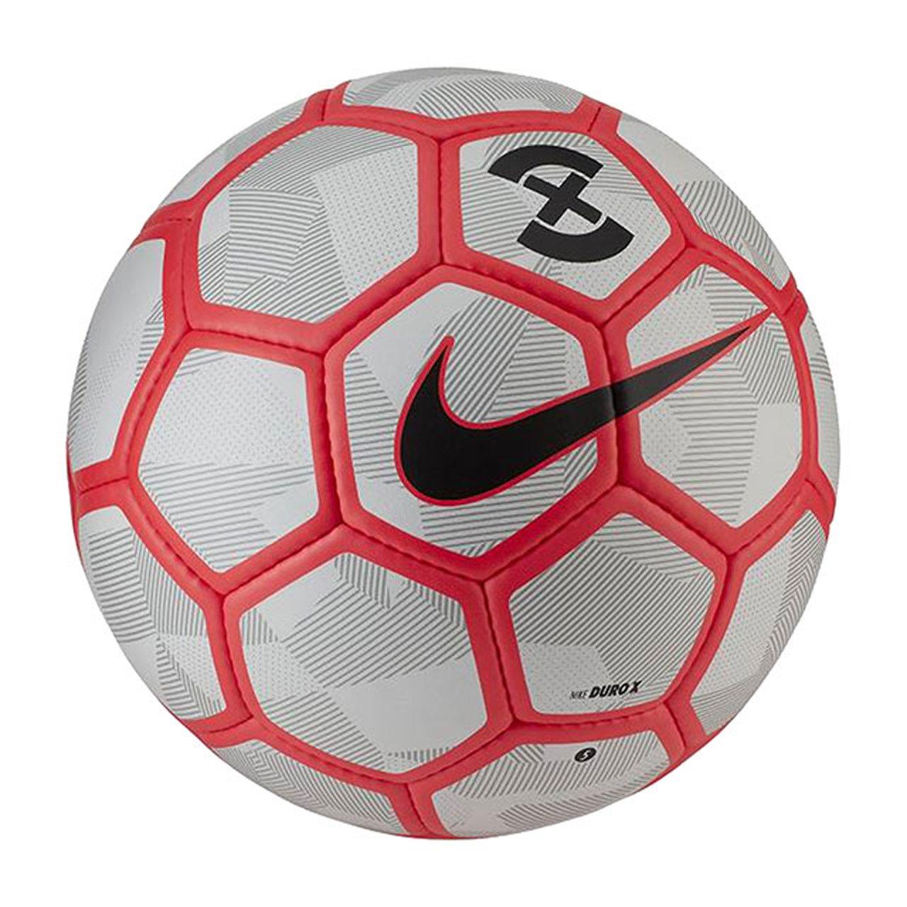 Nike Duro X balón de fútbol, Pure Platinum/Bright Crimson: Amazon ...