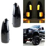 iJDMTOY (2) Smoked Lens LED Side Mirror Marker Lights Set For 2003-2007 Ford F-250 F-350 Superduty, 2000-2005 Ford Excursion