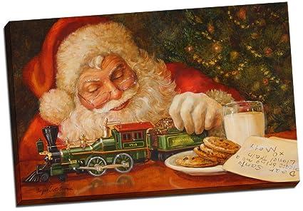 Amazon.com: Panther Print Letter To Santa Claus Christmas Canvas ...