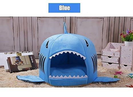 Cama plegable para mascota, perro, gato KRY con diseño de tiburó