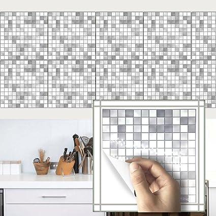 amazon com 1set of 10 pcs tile stickers removable mosaic square