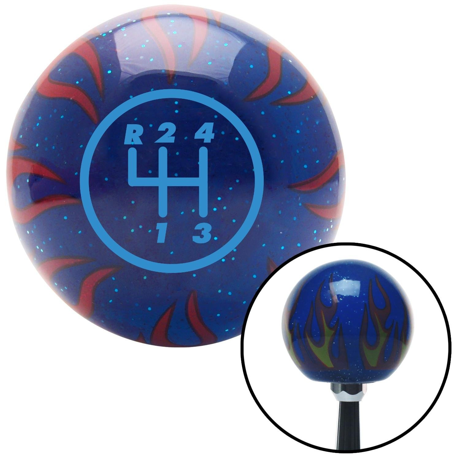 Automotive Interior Accessories American Shifter 244076 Blue Flame ...