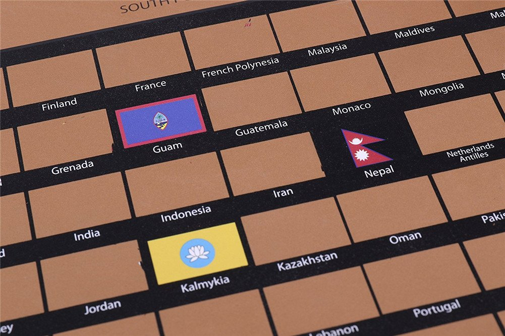 Mapa para rascar,Mapa del Mundo,Mapa Scratch Negro dorado Mapa del ...