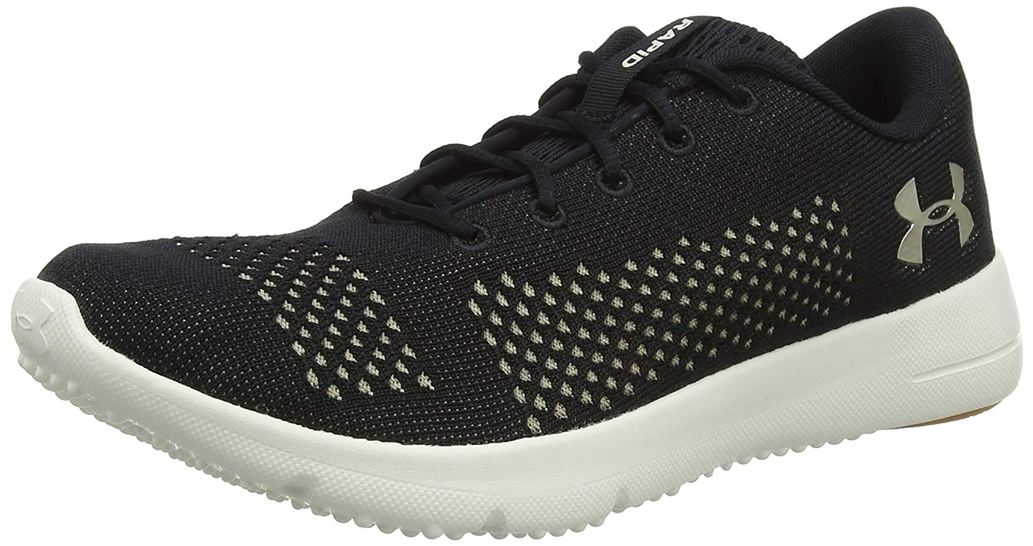 Under Armour UA W Rapid, Zapatillas de Entrenamiento para Mujer 44.5 EU|Negro (Black/ Ivory/ Metallic Faded Gold 004)