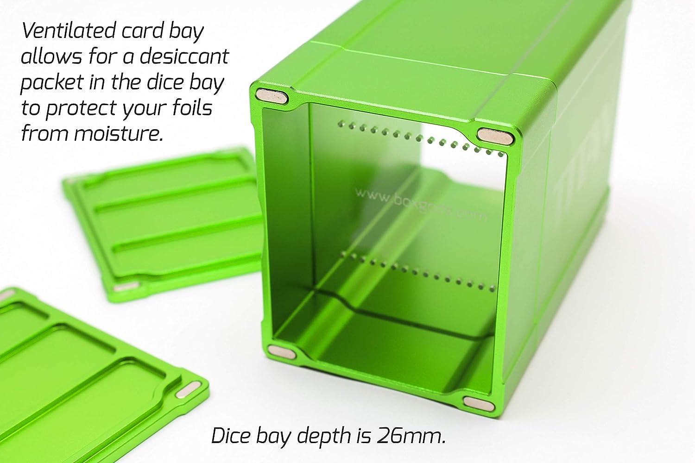 Silver Satin Titan Solid Box Gods Premium High Strength Deck Box Case Protector