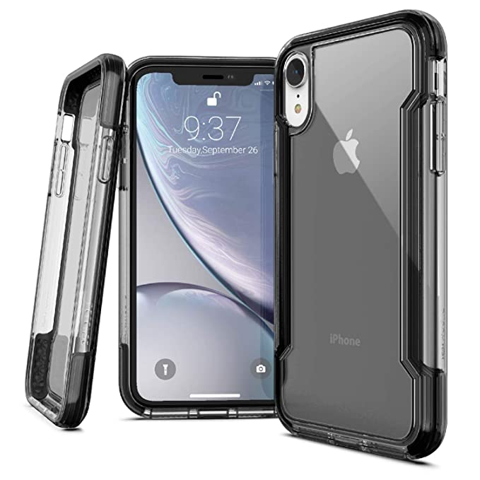 super popular 6ed51 657b3 iPhone XR Case, X-Doria Defense Clear Series - Military Grade Drop  Protection, Shock Protection, Clear Protective Case iPhone XR, 6.1 Inch LCD  Screen ...
