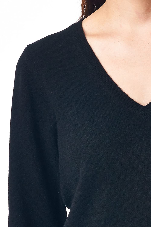 Mariyaab Womens 100/% Cashmere Soft Long Sleeve V-Neck Sweater