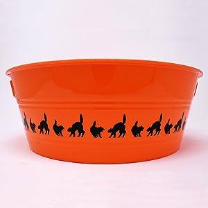 PTI Group Medium Round Orange Party Tub, 12
