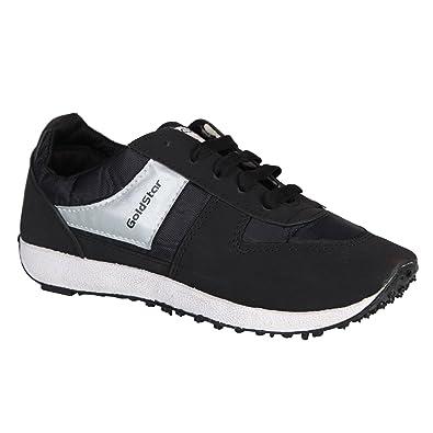 9832c015cf1 GoldStar Men s Black Mesh Running Shoes - 11UK  Buy Online at Low Prices in  India - Amazon.in