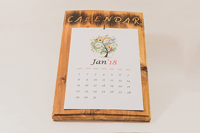 Amazon Com Reusable Calendar Wood Wall Calendar Wood Calendar