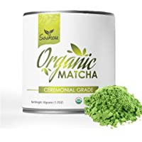 Matcha Green Tea Powder - Economy Ceremonial Grade -USDA Organic for Starbucks Lattes, Smoothies, Baking, Natural Energy & Weight Loss. Fat Burner - 50g Tin