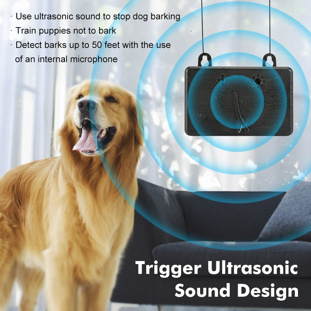 Upgraded Mini Bark Control Device, Outdoor/Indoor Anti Barking Deterrent, Ultrasonic Dog Bark Auto Control Sonic Bark Silencer, Stop Barking Bark Stop Repeller Dog in Safe Condition
