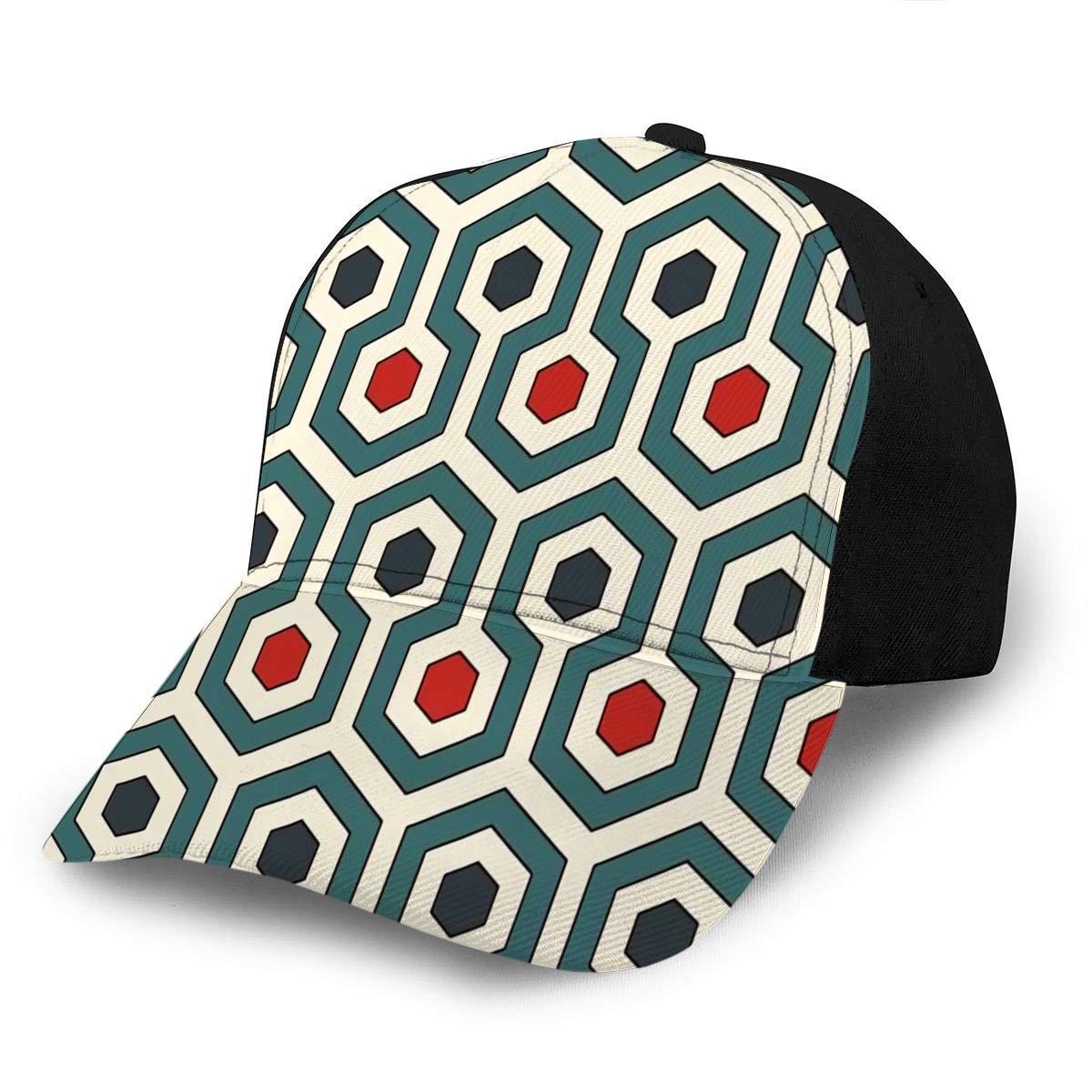 avbvoxy Adjustable Snapback Baseball Cap Honeycomb Abstract Retro Colors Repeated Hexago