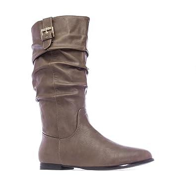9facab057490f1 Andres Machado - Damen Stiefel - Braun Schuhe in Übergrößen  Amazon ...