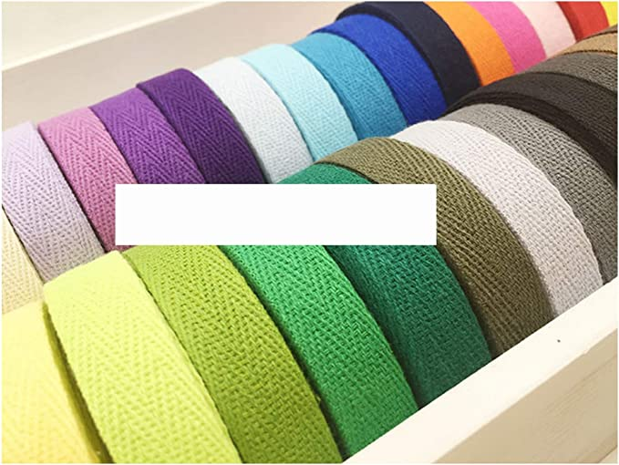 20MM Cotton Belt Tape Bunting Strapping Bag 1PC, Black for Craft Sewing Piping Knit Apron Dressmaking Garment Alteration Quilts Folding Herringbone Bias Binding Twill Webbing Roll Tape