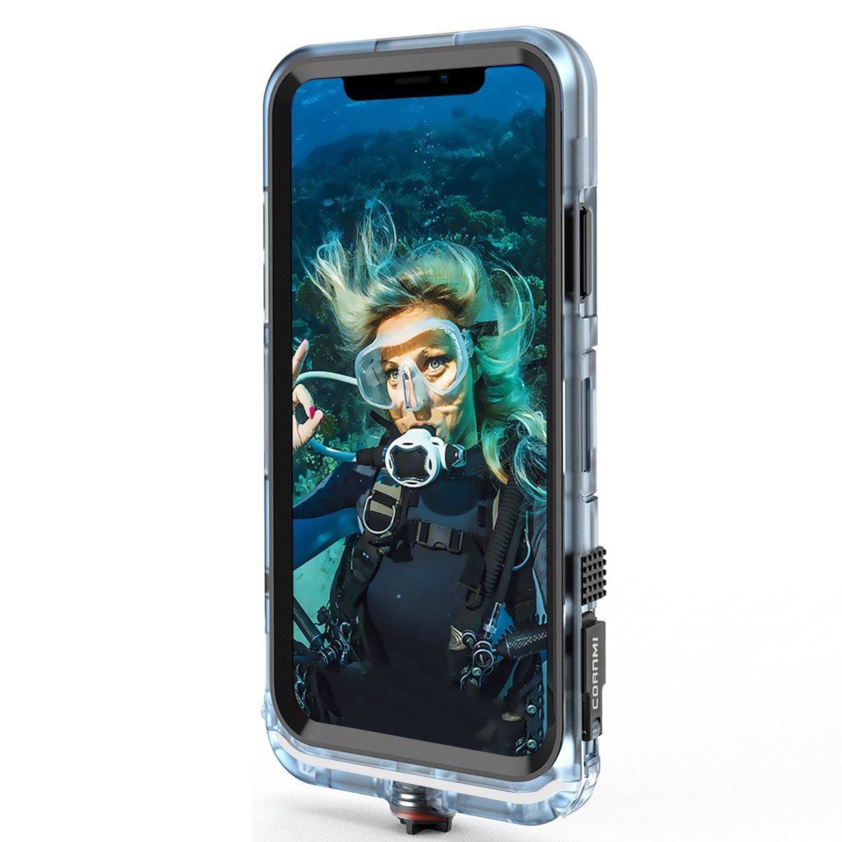 Cornmi iPhone X Waterproof Case, Full Sealed IP68 Certified Waterproof Shockproof Snowproof Protection Underwater Case for iPhone X 5.2inch (Black) by Cornmi (Image #8)