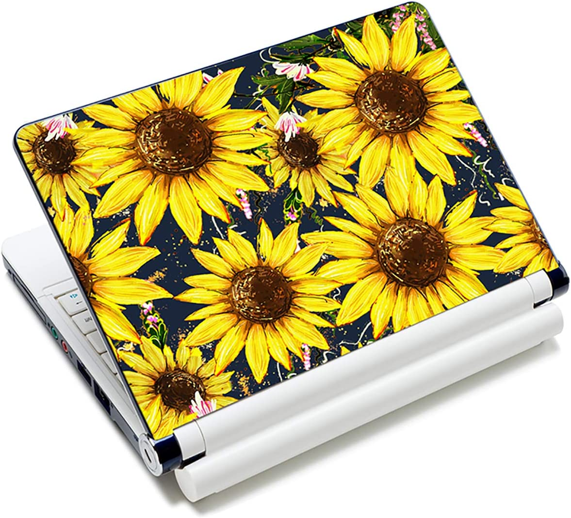 AUPET Personalized Laptop Skin Sticker Decal,12 13 13.3 14 15 15.4 15.6 inch Laptop Skin Sticker Cover Art Decal Protector Notebook PC (Sunflowers)