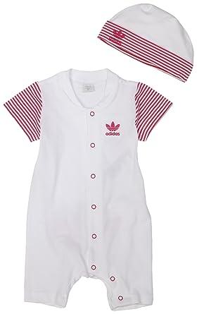 : adidas ragazze dono serie bambino crescere, bianco / rosa, 6