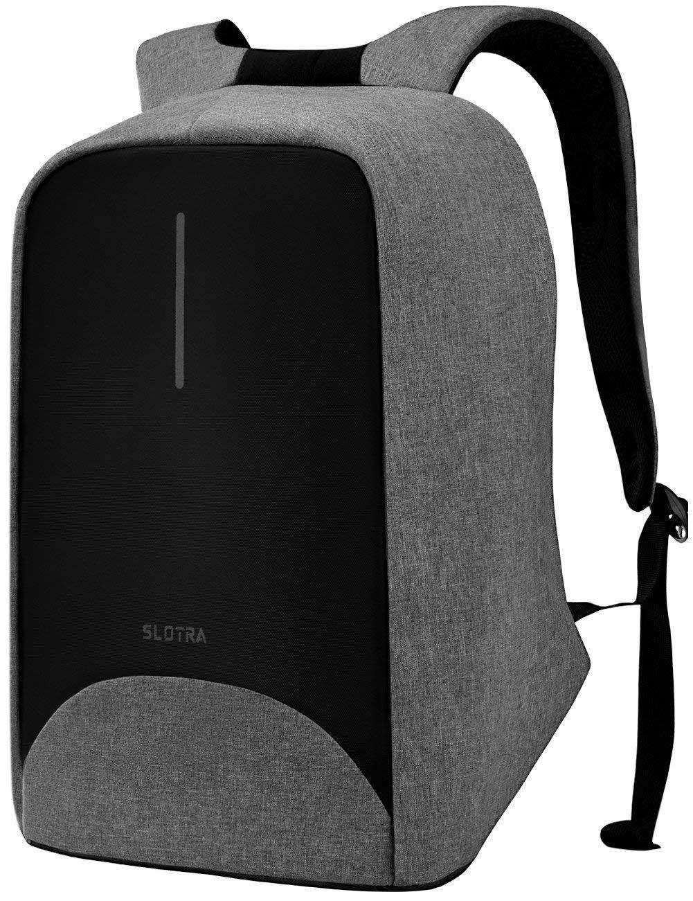 SLOTRA Antifurto Zaino per PC Portatile 15.6 pollici con USB Asola per Uscita Auricolari Borsa da Lavoro Unisex Nylon Idrorepellente (644) TIGERNU