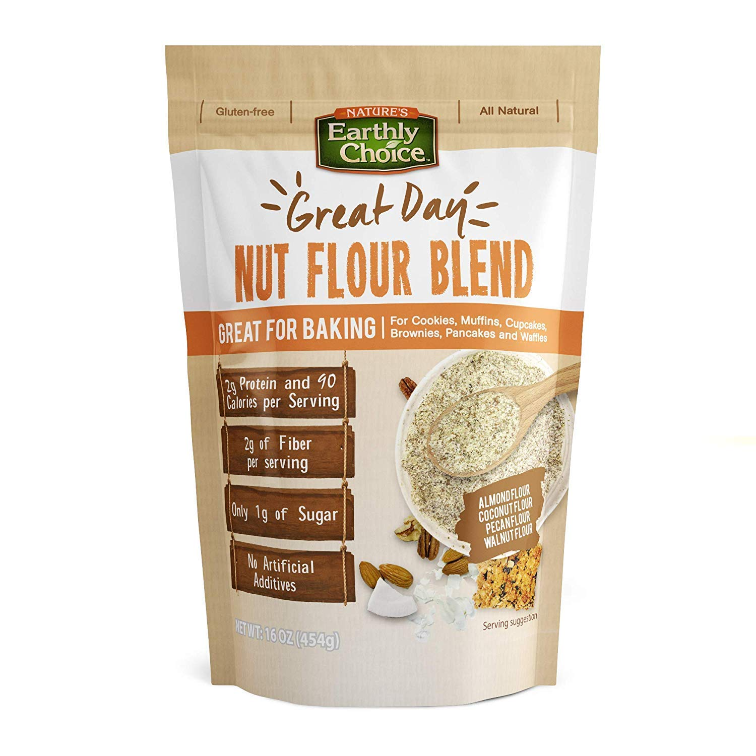 Nature's Earthly Choice Nut Flour Blend 2-Pack-All Natural Gluten Free Non GMO Great for Baking