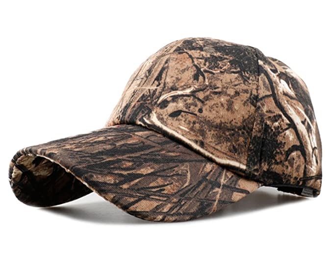 Laipelar Adjustable Camouflage Cap Outdoor Jungle Hat Baseball Cap For Mens  Brown 56d87186dcb