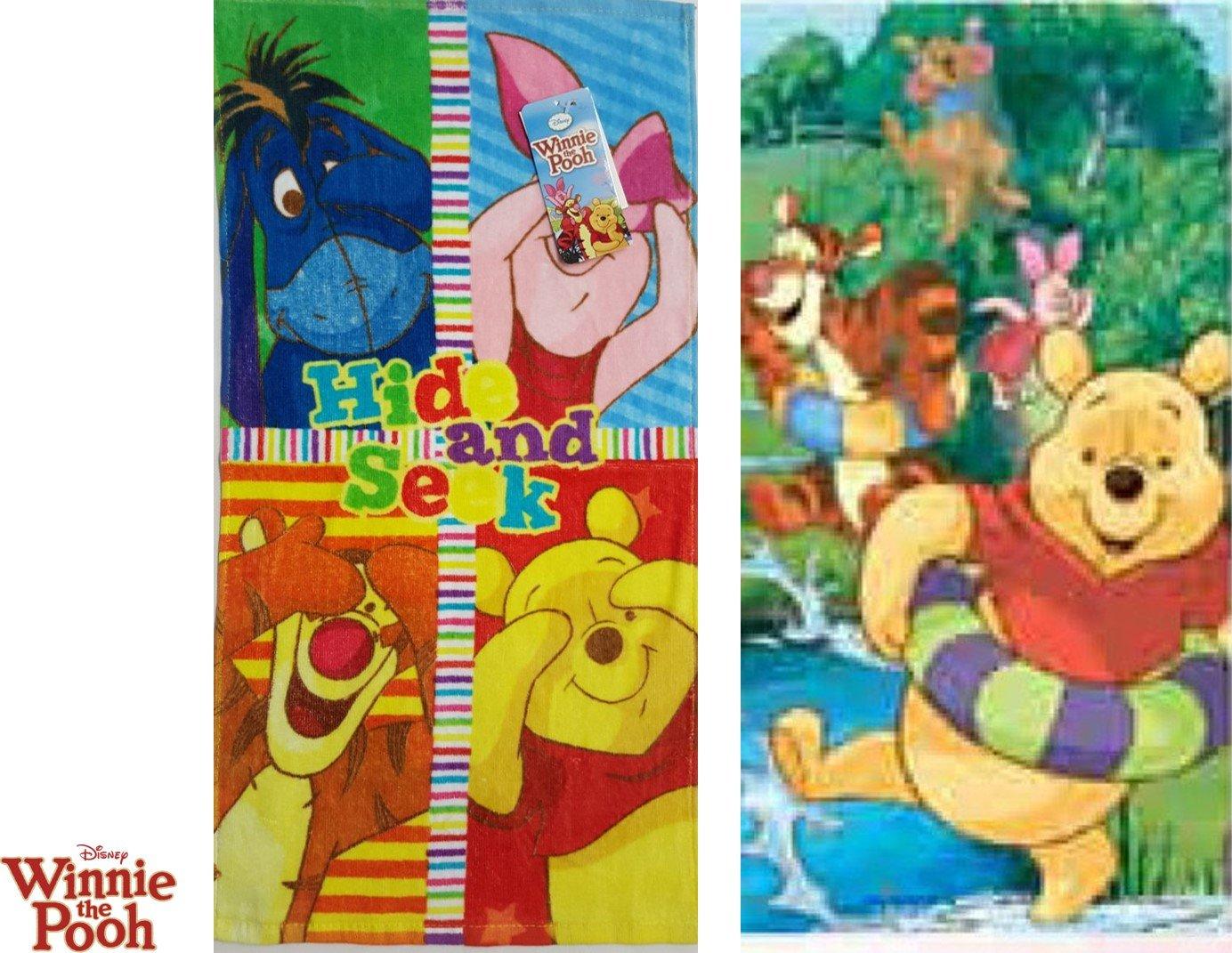 'Set da 2pezzi: della Disney–Amici–Winnie the Pooh–Asciugamano/asciugamano viso 35* 65cm Javoli