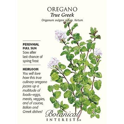 Oregano True Greek Seeds : Plant Seed Collections : Garden & Outdoor