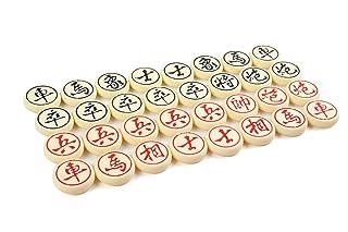 Quantum Abacus Xiangqi: Pezzi per Scacchi Cinese / Xiangqi, Fatto di plastica Dura di Alta qualità, Taglia XL: Diametro 5cm, MOD. CL-115