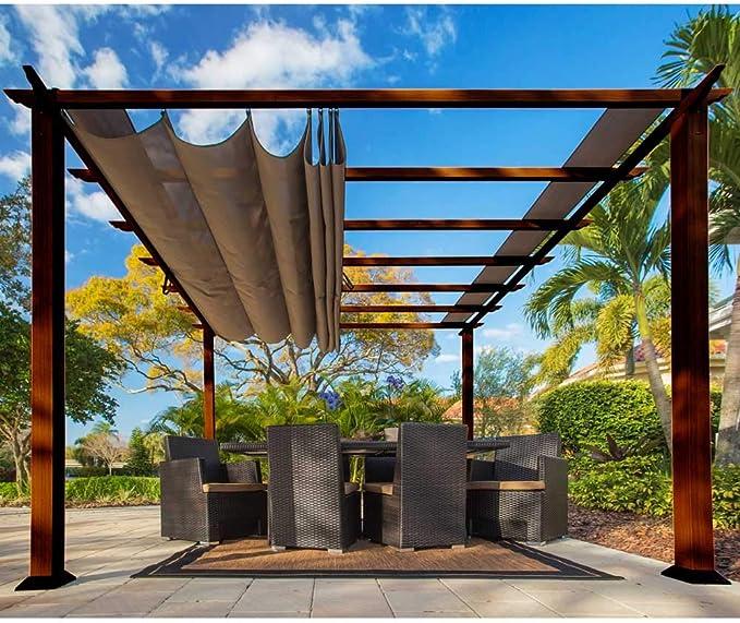 Paragon-Outdoor pr16wd2 C Backyard estructura suave Top con cedro ...