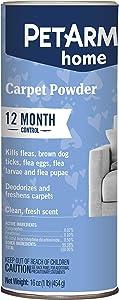PETARMOR Home Carpet Powder for Fleas and Ticks, Protect Your Home From Fleas and Deodorizes Carpets, 16 Ounce