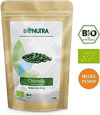BioNutra Chlorella-Presslinge Bio 250 g, 1000 x 250 mg Tabletten, ohne Zusätze, rückstandskontrolliert, membrangebrochen, aus kontrolliert biologischer Kultur