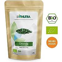 BioNutra Chlorella-Presslinge Bio membrangebrochen 250 g, 1000 x 250 mg Tabletten, 100% rein & natürlich, rückstandskontrolliert, nach EU-ÖKO-Standard kultiviert und hergestellt