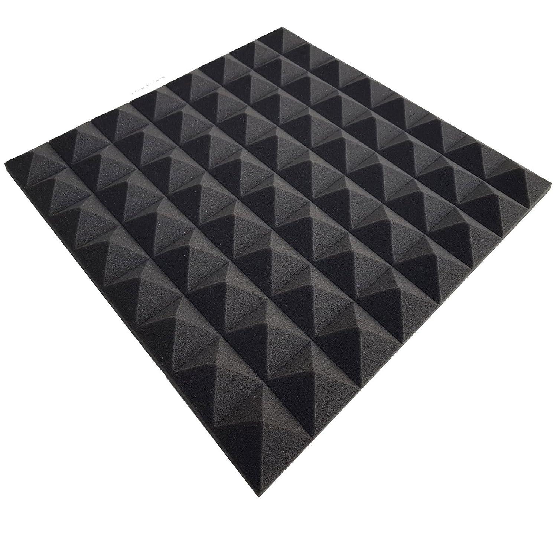 Verpackungseinheit = 1 Platte = ca. 0,25 m/² 50x50x2,5cm Pyra 2500 FSE Anthrazit Schwarz flammhemmend nach MVSS302 ca