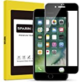 SPARIN iPhone 7 Plus 3D Screen Protector, Edge to Edge Curved Tempered Glass Screen Protector for iPhone 7 Plus with [Scratch Proof] [Ultra Clear], Black