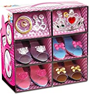 ToyVelt Princess Dress Up & Play Shoe and Jewelry Boutique (Includes 4 Pairs of Shoes + Multiple Fashion Accessories) Best To