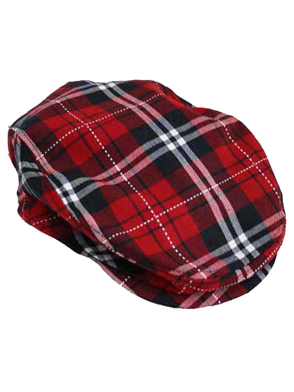Red Plaid Snap Front Newsboy Golf Flat Ivy Cap Hat at Amazon Men s Clothing  store  Newsboy Caps a33c5413682
