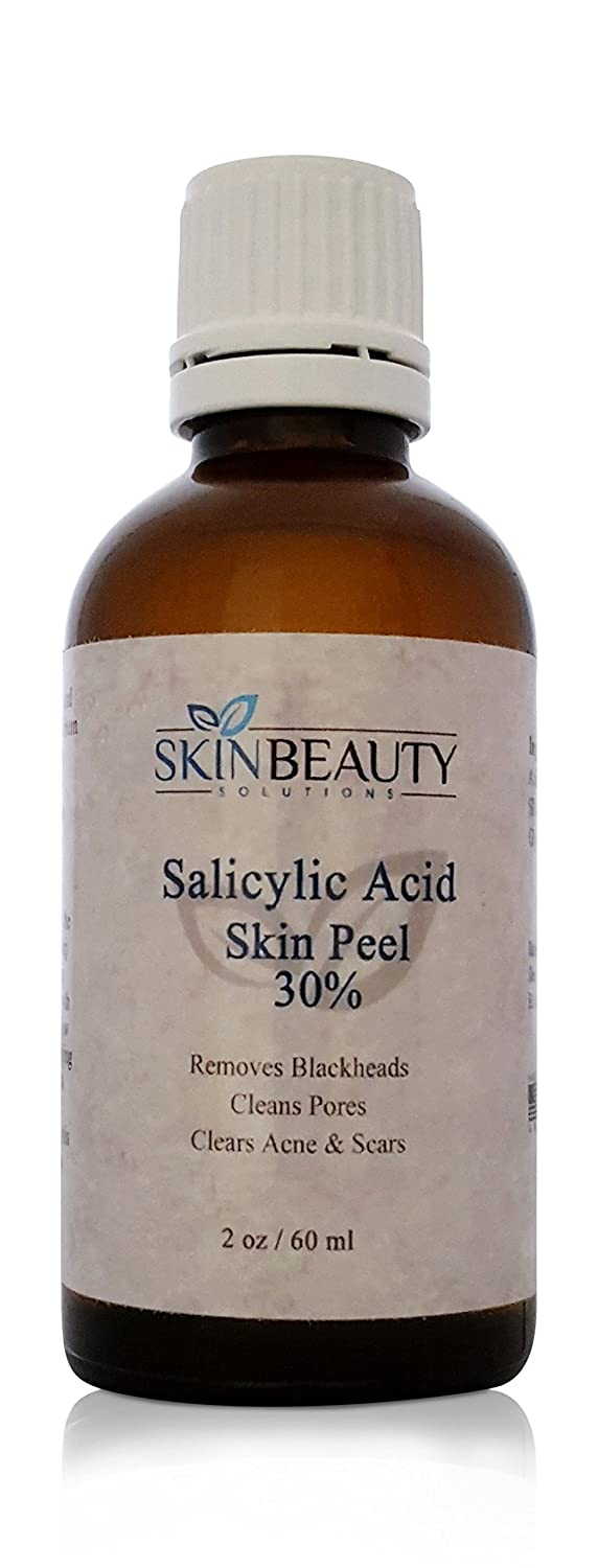 (4 oz/ 120 ml) SALICYLIC Acid 30% Skin Chemical Peel - Beta Hydroxy (BHA) For Acne, Oily Skin, Blackheads, Whiteheads, Clogged Pores & More (from Skin Beauty Solutions)