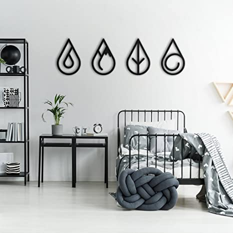 Amazoncom Bekata Four Elements Metal Wall Art Metal World