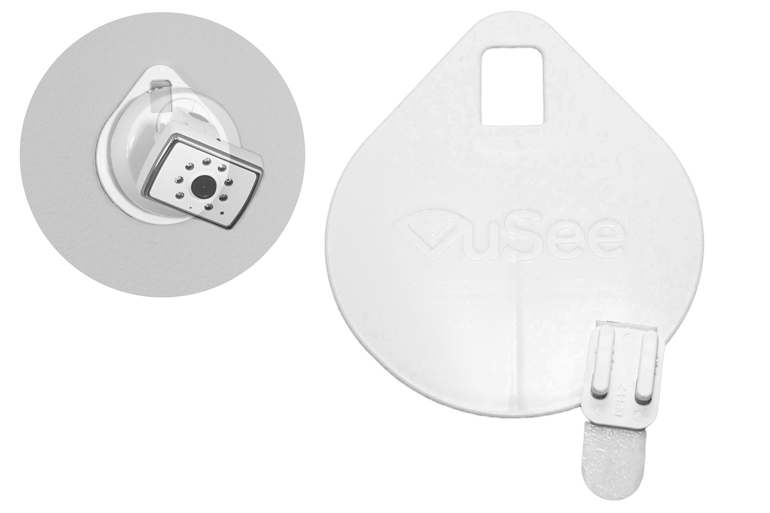 VuSee - The Universal Baby Monitor Shelf (Flat) - Compatible with Most Baby Monitors - Damage Free Installation