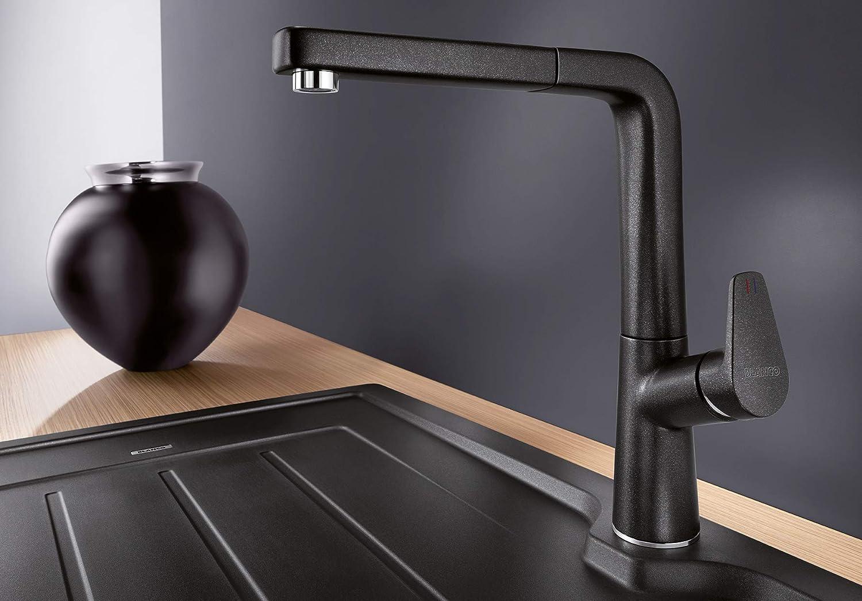 Blanco Avona Einhebelmischer Hochdruck-Wasserhahn f/ür die K/üche Silgranit-Look 521269 Alu metallic