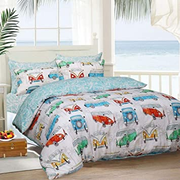 Kohsar Tropische Wohnmobil Poly Baumwoll Bettwäsche Set Bettbezug