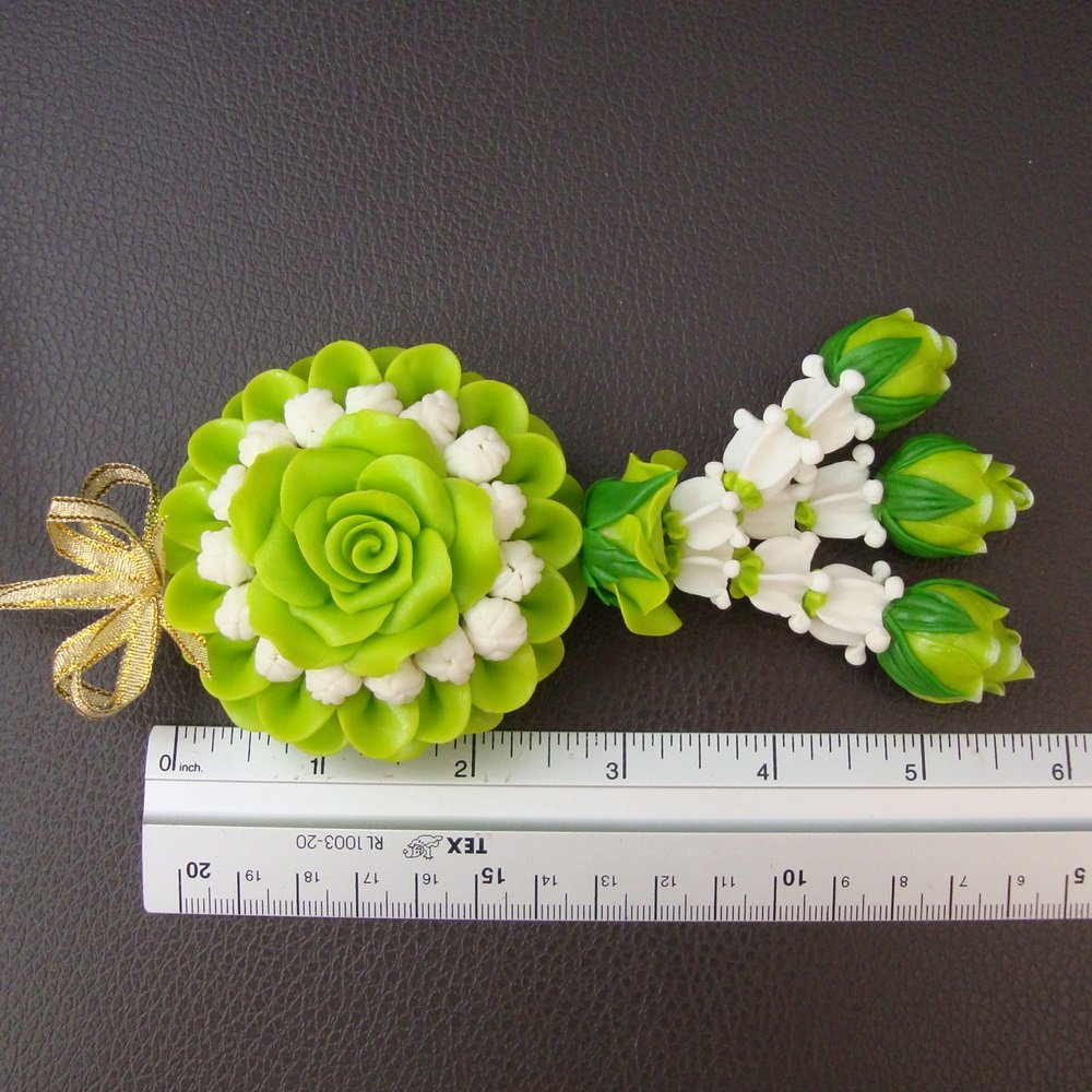 Amazon Cok Garland Clay Green Rose Jasmine Flower Thai Delicate