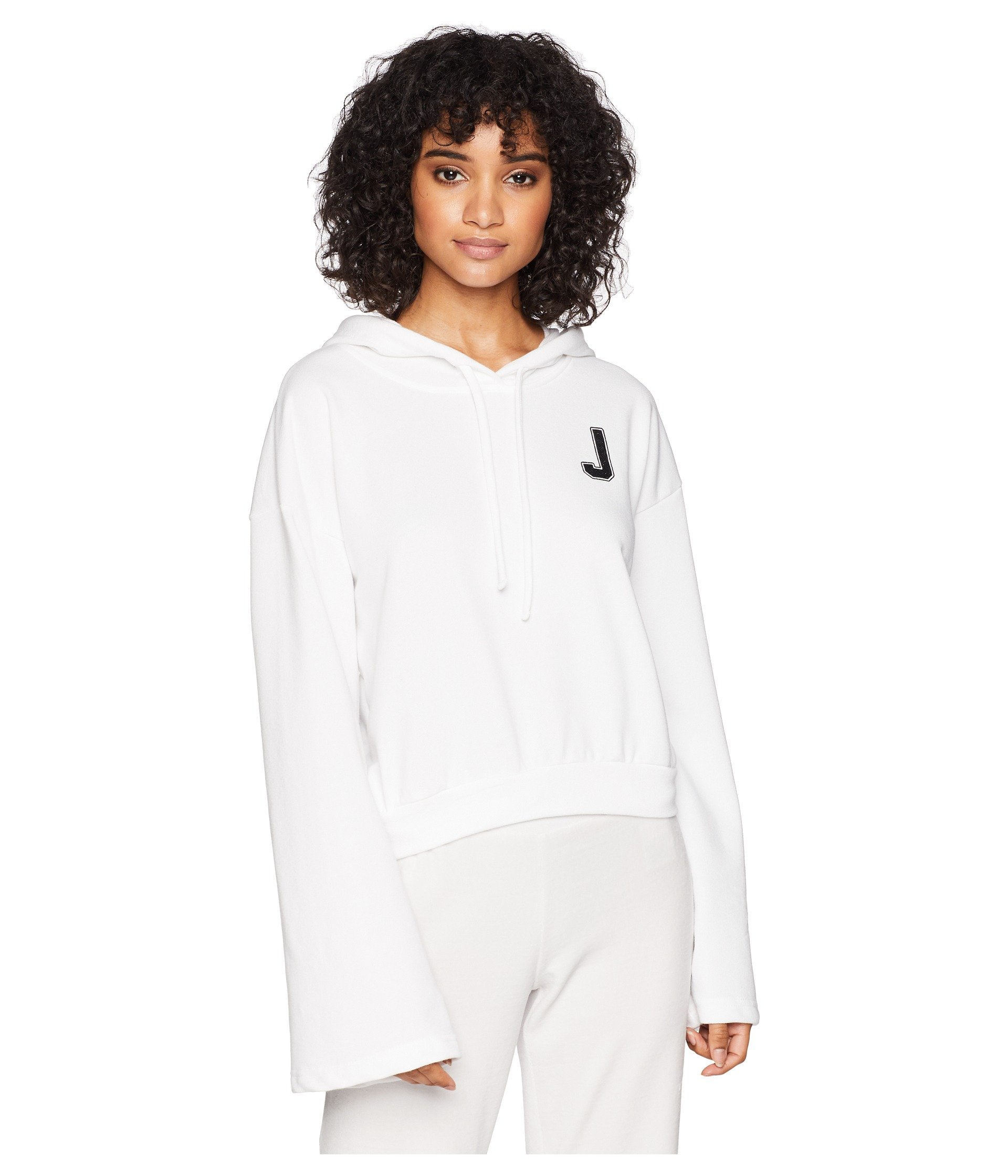 Juicy Couture Womens French Terry Logo Hoodie White XL