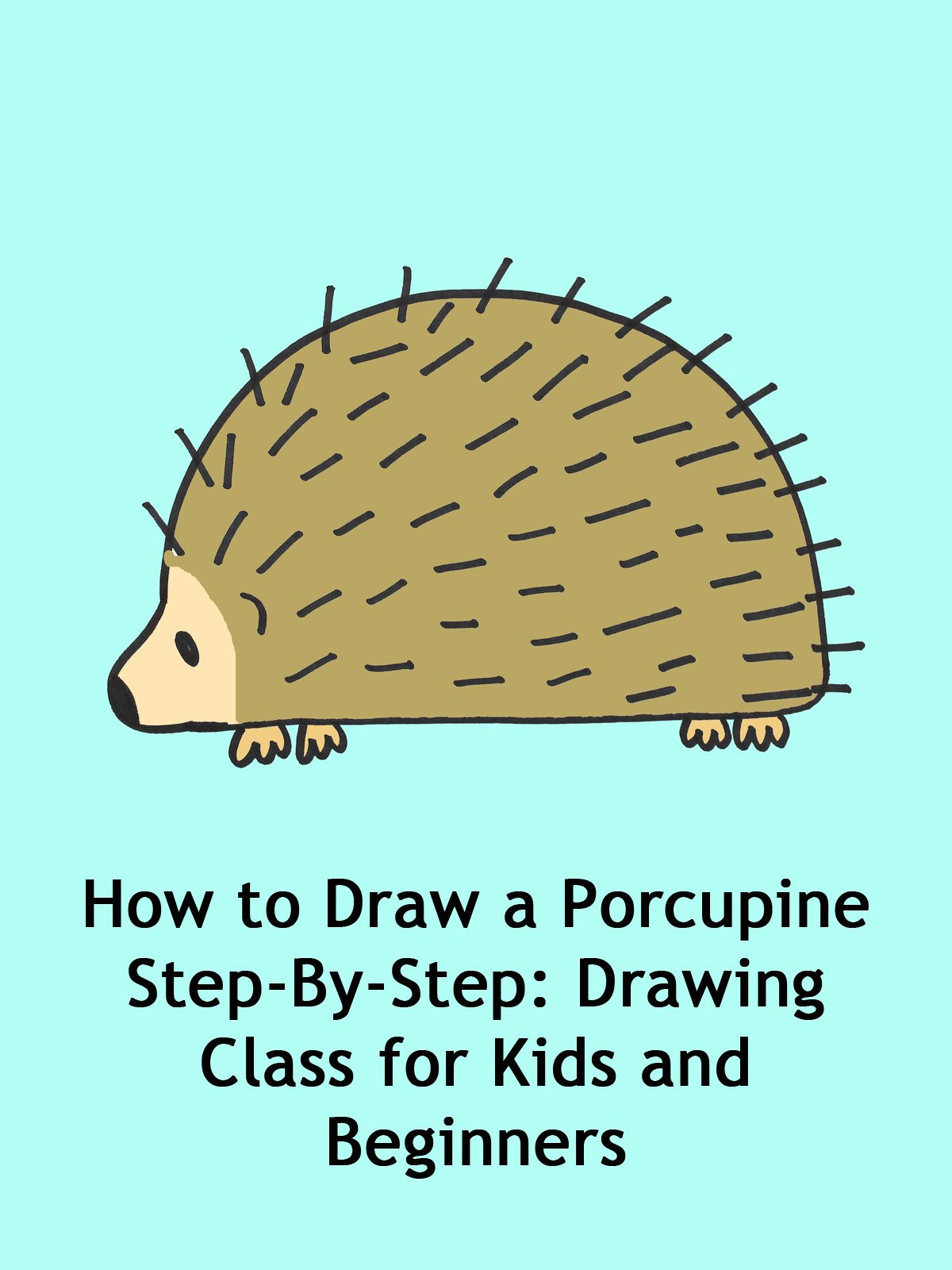 amazoncom how to draw a porcupine step by step drawing class for kids and beginners em winn