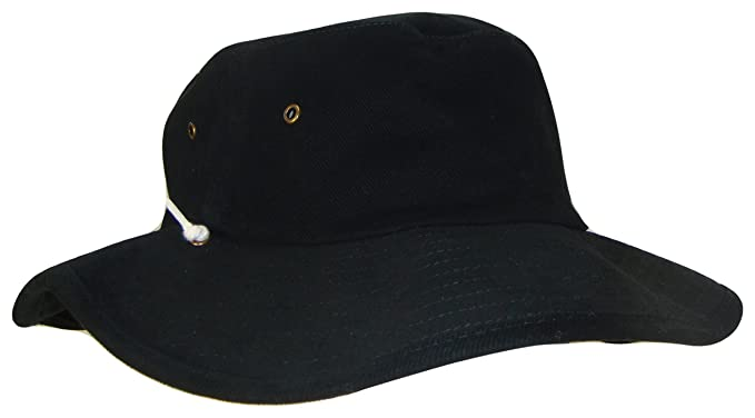 Image Unavailable. Image not available for. Color  Australian Outback Drawstring  Bucket Hat (Black ... 5700e7b1ca3