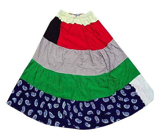 comprare popolare 6ddf1 313d0 PEEGLI Gonna Lunga Indiana Multicolore A Fantasia Casual Con ...