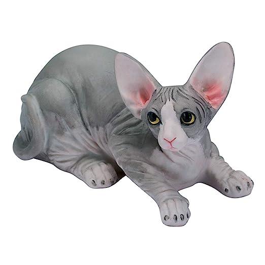 Willis Judd Sphynx - Estatua de Gato sin Pelo Pintada a Mano, 7,6 ...