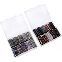 Healifty Nail Art Stickers Nail Decals Full Wraps Nail Polish Strips Manicure Kits for Women Girls DIY Nail Art…