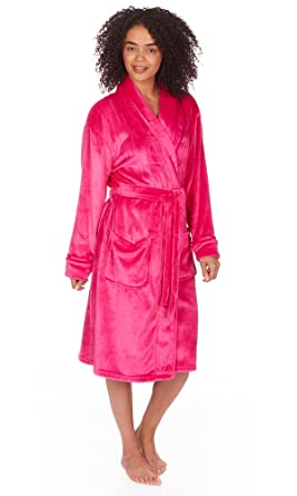 Cookies and Cream Ladies Womens Supersoft Housecoat Fleece Bath Robe  Dressing Gown Soft Size 8-18  Amazon.co.uk  Clothing c40b10584